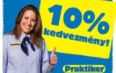 Makasz Praktiker hétvégék 10 % kedvezménnyel!