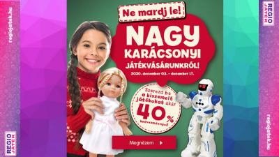 REGIO JÁTÉK: nagy karácsonyi játékvásár